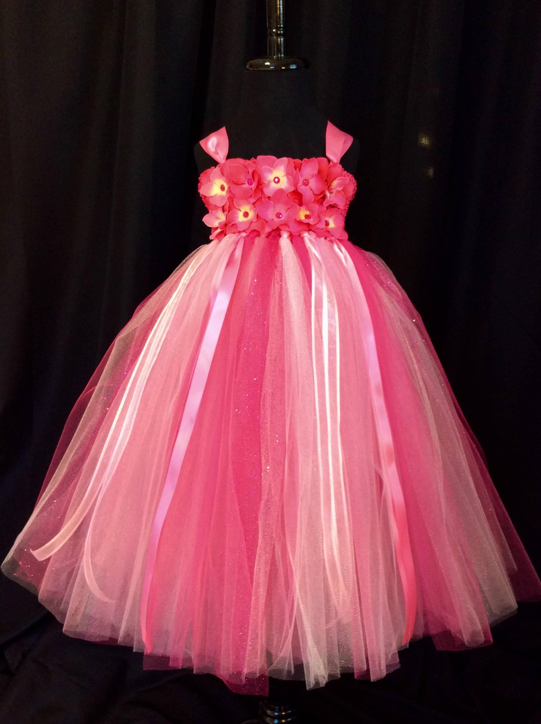 Bright pink flower girl dress tulle flower girl dress tutu dress bright pink flower girl dress tulle flower girl dress tutu dress for girls tutu flower girl dress wedding pink flower girl dress mightylinksfo Gallery