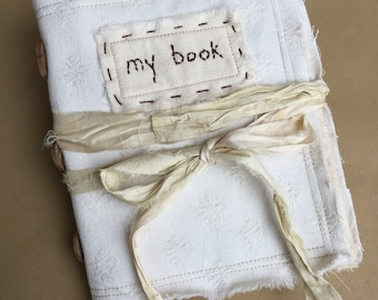 Blank Fabric Book - Textile Artists Book - Blank Textiles Book - 100% Cotton Book - Quilted Cotton Book