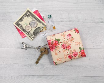 Credit Card Wallet • Vegan Leather • Faux Leather • Minimalist Wallet • Small Wallet • Floral Vegan Leather • Whippersnapper