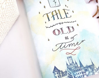 Tale as Old as Time Journal — Hand Lettered 'Beauty and the Beast' Notebook or Planner