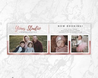 Rose Gold Facebook Timeline Cover PSD Template, Photography Facebook Cover, Facebook Cover Photo, Facebook Banner, Collage, Gallery, FB13