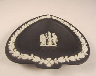 Wedgewood Jasperware Black Spade Nike & Warrior Ashtray