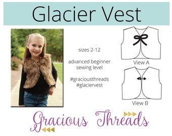 Glacier Vest pdf sewing pattern