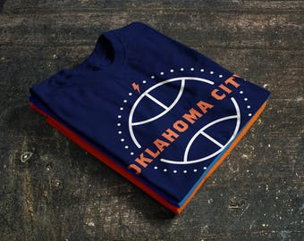 Oklahoma City Thunder Basketball Fan T-Shirt 50/50 blend (Fan Made)