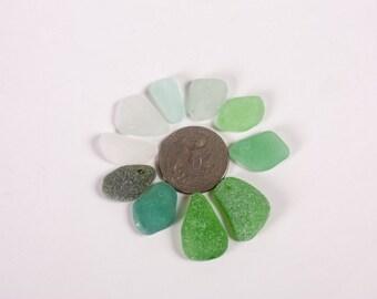 10 small Sea glass, sea glass pendant, Mix sea glass, drilled Sea Glass, pendant drilled glass, sea glass bead, mix drilled glass, glassbead