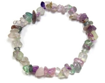Baroque bracelet Rainbow fluorite