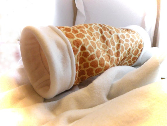 Giraffe 5 Inch Large Cozy Tunnel for Your Favorite Little Hedgehog, Guinea Pig, Ferret, Small Pet