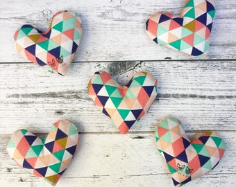 Geometric Minimalist Catnip Heart Toy for Cats and Kittens