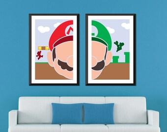 Super Mario Minimalist: Mario & Luigi Set