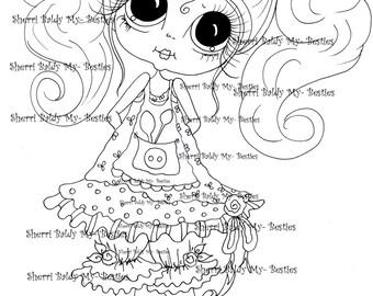 INSTANT DOWMLOAD Digital Digi Stamps Big Eye Big Head Dolls Digi  My Besties IMG896 By Sherri Baldy