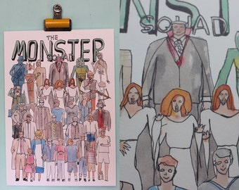 The Monster Squad Team Illustration
