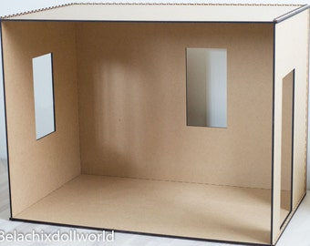 1/4 size unfinished miniature roombox / diorama walls KIT Diy . BJD MSD furniture dollhouse