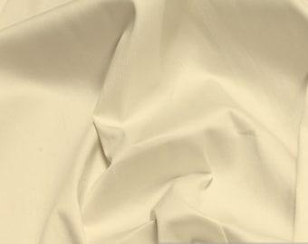 Fabric cotton elastane satin cream off-white noble