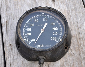 Vintage Temperature Gauge, SARCO NYC