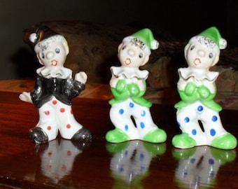 Set of Mini Clown Figurines