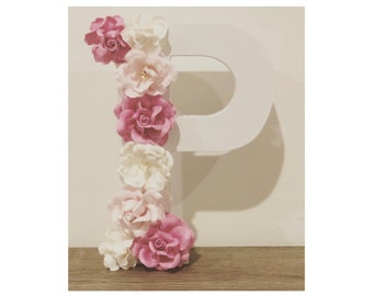 Floral Wooden Letter - P *ready to ship* Nursery / Birthday / Baby Shower