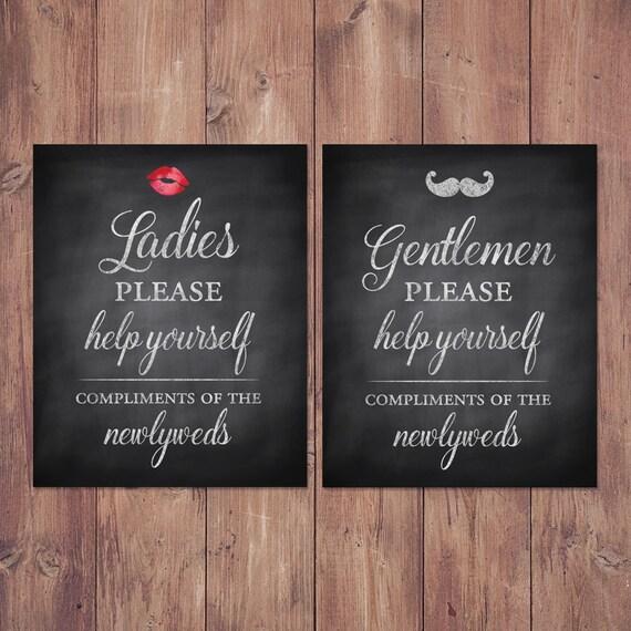 Hochzeit Bad Korb Zeichen   Damen Und Herren Gastfreundschaft Korb   Sein  Und Ihr Badezimmer Schilder   Rustikal Printable 8 X 10   5 X 7 (Satz 2)