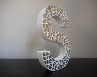 Stand Up Mirror Mosaic Letters