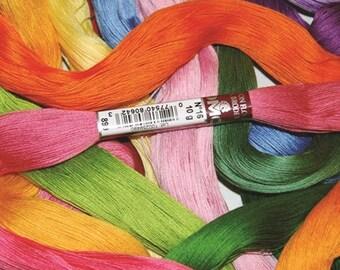DMC Floche a Broder - Size 16 cotton thread - Full Skein - Colors 739-5200, White, Ecru
