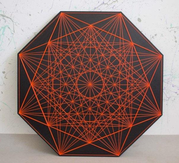 chrysanth me string art g om trie sacr e zen manque 3d tenture. Black Bedroom Furniture Sets. Home Design Ideas