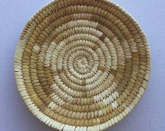 Native American Vintage Papago Barbara Lewis Tohono O' Odham Arizona Indian Handwoven Basket