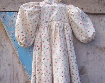 Vintage Floral Print Doll Dress