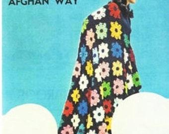 CROCHET PATTERN - Granny Squares Motif Bedspread - Blanket - PDF Instant Download - Flower Afghan Throw - Comforter - Rainbow Blanket - Vtg