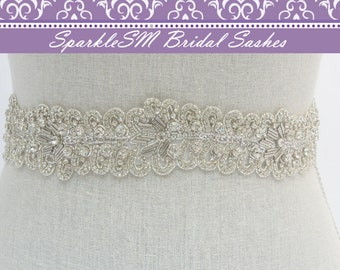 Bridal Sash, Wedding Sash, Bridal Belt, Crystal Sash, Rhinestone Sash, Jeweled Belt, Wedding Gown Belt, Crystal Bridal Belt, Rhinestone Belt