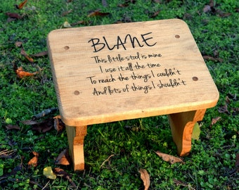 Personalized Kids Stepping Stool - Rustic Decor - Children's Step Stool - Bathroom Stool - Wood Stool For Kids - Gift for Kids - Step Stool