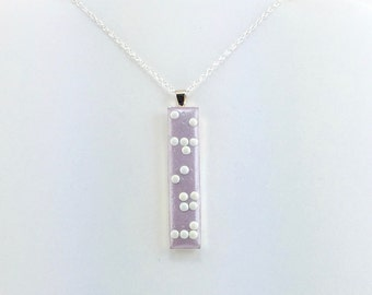 Skinny Braille Necklace - Vertical Pendant - Your Name in Braille - Personalized Necklace - MADE to ORDER