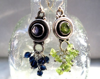 Peridot Sterling Silver Earrings Also avail in Garnet Turquoise or Iolite