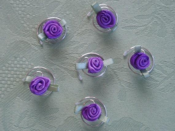 Purple Rose Hair Swirls Spins Twists Spirals Coils