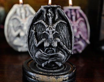 "Baphomet ""Underworld"" Naturally Scented Vegan Soy Candle for Shadow Work, Astral Travel, New Moon Ritual"