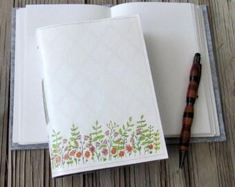 flower fields journal, diary notebook planner gift giving for under 25
