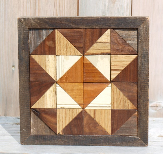 Salvaged Barn Board Wall Decor Geometric Wall Art Wood