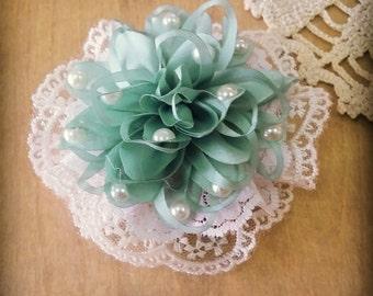 Ivory Bridal Hair Flower, Flower Hair Piece,  Bridal Flower Hair Pin ,Wedding Hair Flower,Fascinator