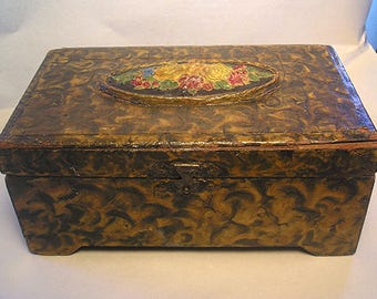 A 19th Century HP Wood Box Z24