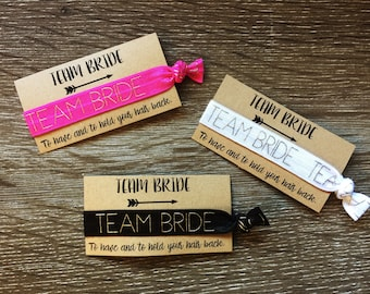 Team Bride hair ties/wrist band