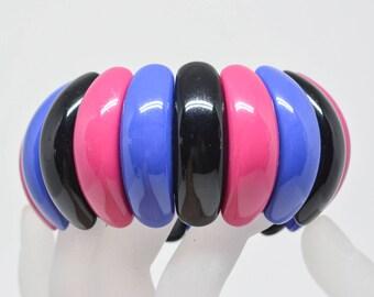 Beautiful colorful plastic beaded bracelet
