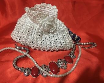Clutch Handmade Bag made with Yarn and Wool