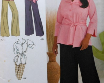 Shirt, Pants, Skirt Sewing Pattern UNCUT Simplicity 2636 Sizes 18-24 Plus Size