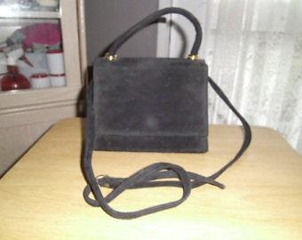 vintage black suede bag