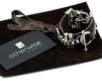 Unique jewelry, Strong Bracelet, Design Bracelet, Handmade Jewelry, Leather Jewelry, Design Bracelet, Statement Bracelet,Edgy Jewelry BR-248
