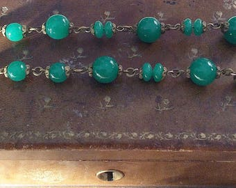 Czech glass beaded necklace