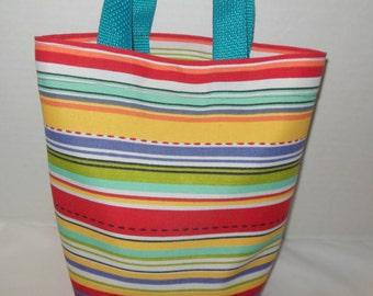 SALE ---Toddler's Striped Purse/Tote Bag