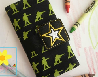Crayon Roll, Crayon Wallet, Crayon Caddy, Crayon Holder, Crayon Roll Up, Crayon Keeper, Crayon Organizer, Crayon Tote, Army, Military
