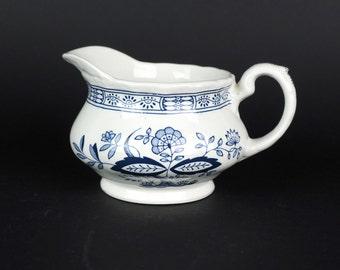 Wedgwood Blue Heritage Pattern Creamer, Blue Onion Floral Pattern Creamer