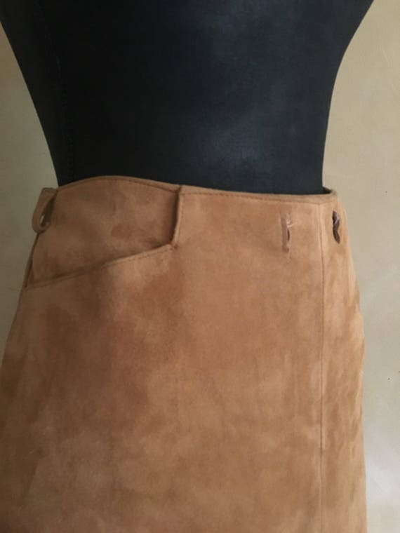 Vintage Tan Suede Skirt