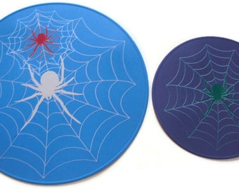 Spider Web Blue And Lavender Silicone Trivets Table Placemats Kitchen Hot Pads Table Coaster