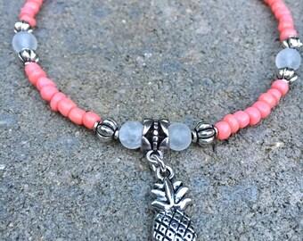 Beach Anklet, Pineapple Anklet, Ankle Bracelet, Anklet, Ankle Jewelry, Beach Jewelry, Womans Anklet, Summer Anklet